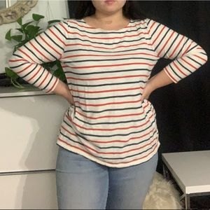 🌻Old Navy 3/4 sleeve striped top